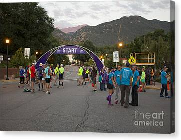 Footrace Canvas Print - Pikes Peak Marathon And Ascent by Steve Krull