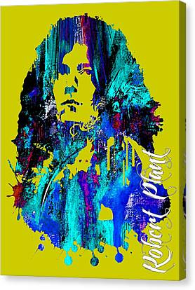 Blues Canvas Print - Robert Plant Collection by Marvin Blaine