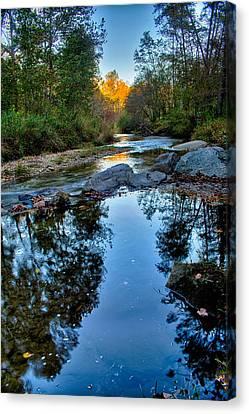Stone Mountain North Carolina Scenery During Autumn Season Canvas Print by Alex Grichenko