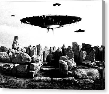 Ufo Sighting Canvas Print by Raphael Terra