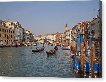 Peaceful Scene Canvas Print - Venice - Italy by Joana Kruse