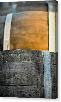Wine Barrel Canvas Print by Brandon Bourdages