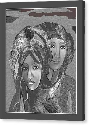 Canvas Print featuring the digital art 1667 - The Sisters by Irmgard Schoendorf Welch