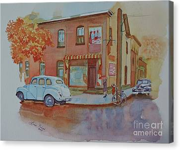 169 York Street Circa 1955 Canvas Print