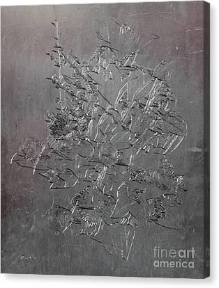 16b Abstract Floral Digital Art Canvas Print