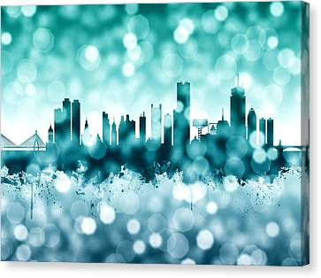 Boston Canvas Print - Boston Massachusetts Skyline by Michael Tompsett