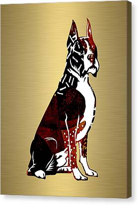 Boxer Dog Canvas Print - Boxer Collection by Marvin Blaine