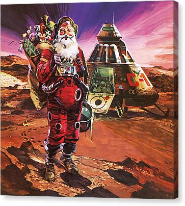 Father Christmas Canvas Print - Christmas Card by English School