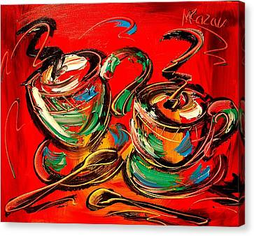 Coffee Canvas Print by Mark Kazav