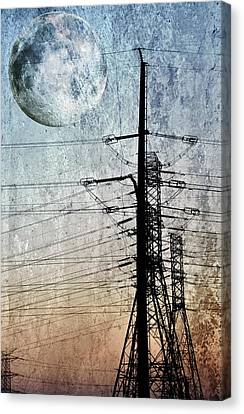 Electric Power Transmission... Canvas Print