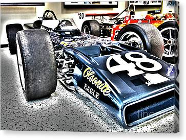 Indy Race Car Museum Canvas Print by ELITE IMAGE photography By Chad McDermott