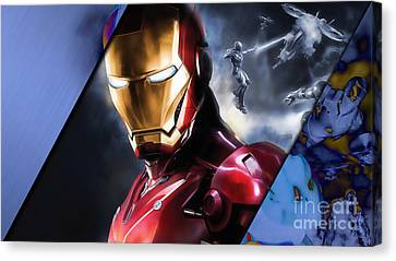Iron Man Collection Canvas Print