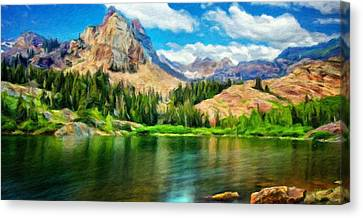 Landscape Paintings Nature Canvas Print by Margaret J Rocha