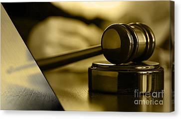 Lawyer Canvas Print - Law Office Collection by Marvin Blaine