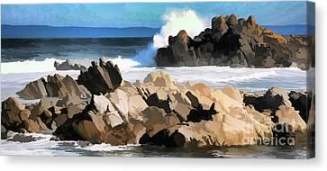 17 Mile Drive Pacific Ocean  Canvas Print