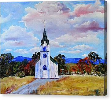#17 St. Johns Historic Church On Hwy 69 Canvas Print