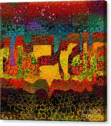 1732 Abstract Thought Canvas Print