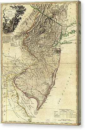 1778 Nj Map Canvas Print by Mark Miller