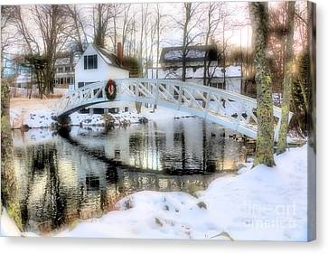1780 Somesville Selectman's Building And Bridge  Canvas Print by Elizabeth Dow