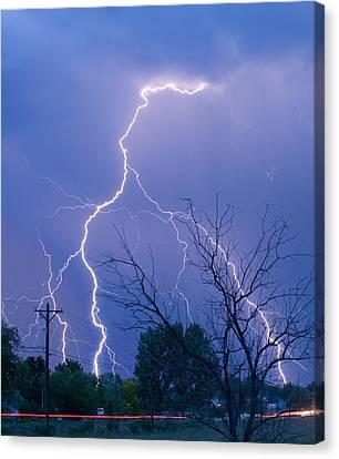 17th Street Lightning Strike Fine Art Photo Canvas Print by James BO  Insogna