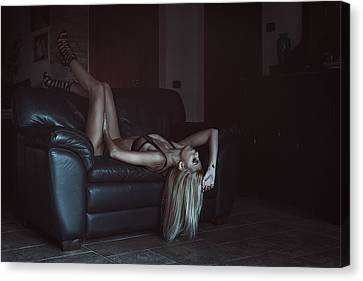 Canvas Print featuring the photograph .. by Traven Milovich