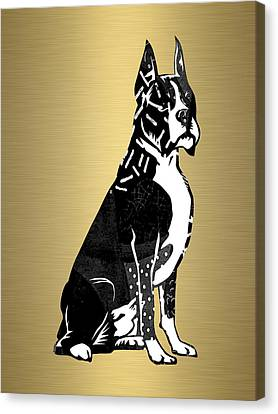 Boxer Canvas Print - Boxer Collection by Marvin Blaine