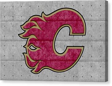 Calgary Flames Canvas Print by Joe Hamilton