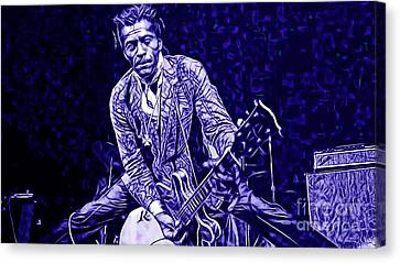 Musicians Canvas Print - Chuck Berry Collection by Marvin Blaine