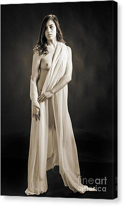 Claudia Nude Fine Art Print In Sensual Sexy Black And White Or S Canvas Print by Kendree Miller