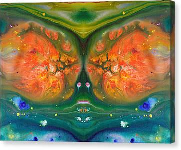 Fluid Acrylic Paint Canvas Print by Sumit Mehndiratta