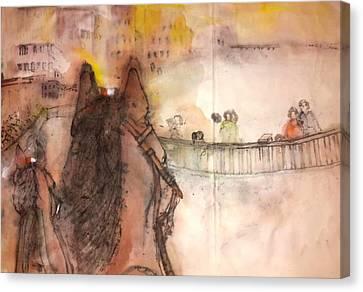 Il Palio Story Album Canvas Print