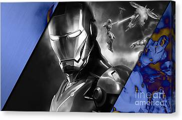 Iron Man Collection Canvas Print by Marvin Blaine
