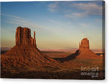 The East And West Mitten Buttes Canvas Print