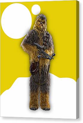 Science Fiction Canvas Print - Star Wars Chewbacca Collection by Marvin Blaine