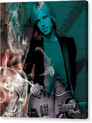 Canvas Print featuring the mixed media Tom Petty Collection by Marvin Blaine