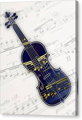 Violin Canvas Print - Violin Collection by Marvin Blaine
