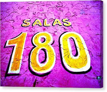 180 Santiago Pinked  Canvas Print by Funkpix Photo Hunter