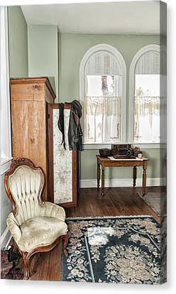 Canvas Print featuring the photograph 1800 Closet And Chair by Linda Constant