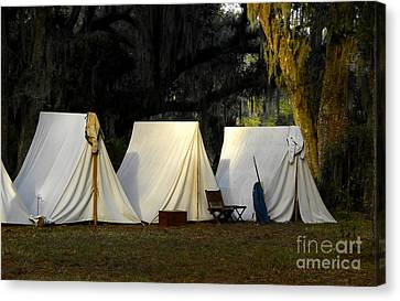 1800s Army Tents Canvas Print by David Lee Thompson