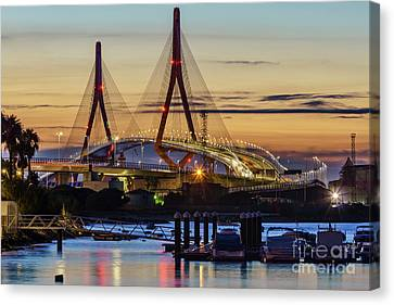 Canvas Print featuring the photograph 1812 Constutition Bridge From Rio San Pedro Puerto Real Spain by Pablo Avanzini