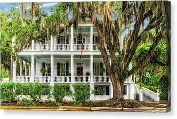 Canvas Print featuring the photograph 1820 Historic Bed And Breakfast South Carolina  -  013-6178 by Frank J Benz