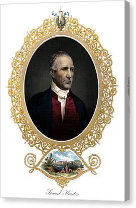 1850 Sam Houston  Canvas Print by Historic Image