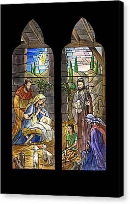 1857 Nativity Scene Canvas Print by Munir Alawi