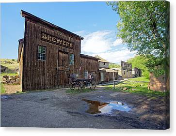 1863 H. S. Gilbert Brewery - Virginia City Ghost Town Canvas Print by Daniel Hagerman