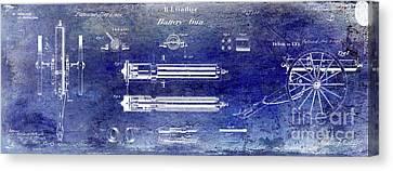 Ak-47 Canvas Print - 1865 Gatling Gun Patent by Jon Neidert