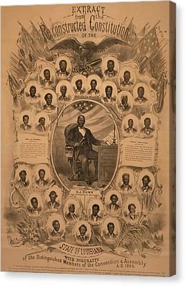 1868 Commemorative Photo Collage Canvas Print by Everett