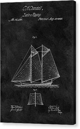 1869 Sailing Vessel Patent Canvas Print