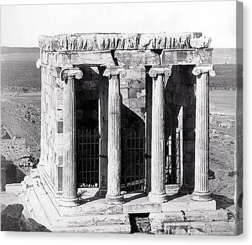 1870 Temple Of Athena Nike, Athens Canvas Print by Historic Image