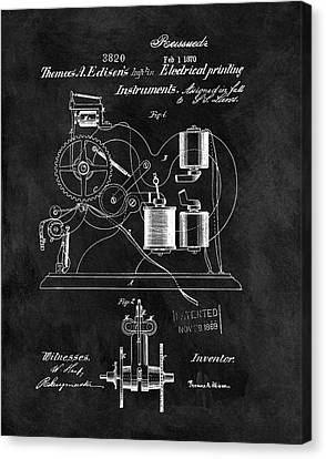 1870 Thomas Edison Print Patent Canvas Print by Dan Sproul