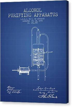 1874 Alcohol Purifying Apparatus Patent Fb77_bp Canvas Print by Aged Pixel